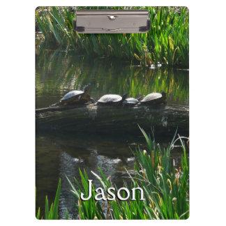 カメの緑の自然の写真の列 クリップボード