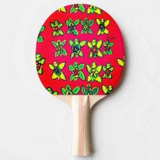 カメの花の芸術 卓球ラケット
