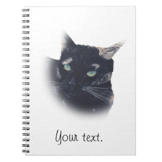 カメの貝猫の顔のノートのヴィグネット ノートブック