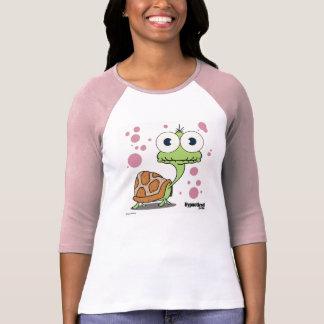 カメの(淡いピンクの)女性のTシャツ Tシャツ