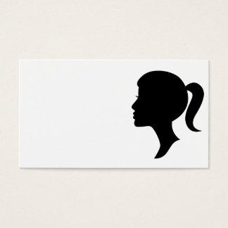 カメオのシルエットの女の子の名刺 名刺