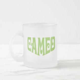 カメオのロゴの曇らされたマグ フロストグラスマグカップ