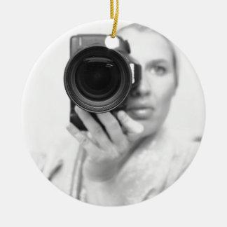 カメラとの自画像 セラミックオーナメント