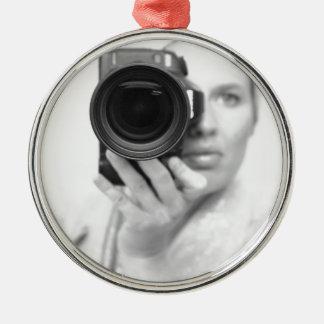 カメラとの自画像 メタルオーナメント