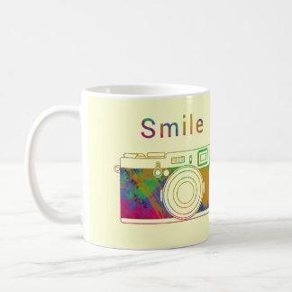 カメラのスマイル コーヒーマグカップ