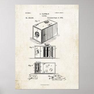 カメラのパテントのプリント1888年 ポスター