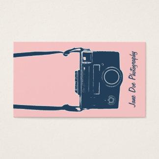 カメラの写真撮影のガーリーなピンク及び青く旧式なフィルム 名刺