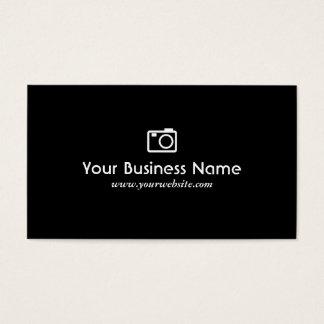 カメラアイコン平野の黒のカメラマンの名刺 名刺