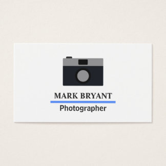 カメラマンのためのシンプルで、モダンなカメラアイコン 名刺