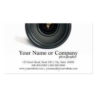 カメラマンのカメラレンズの名刺 スタンダード名刺