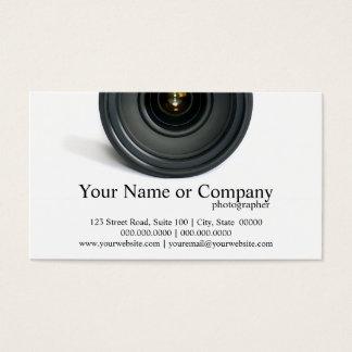 カメラマンのカメラレンズの名刺 名刺