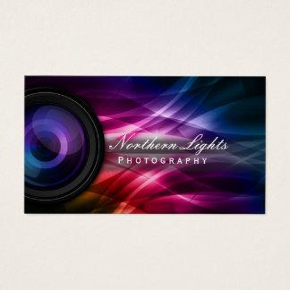 カメラマンのカメラレンズ及びオーロラの写真撮影 名刺