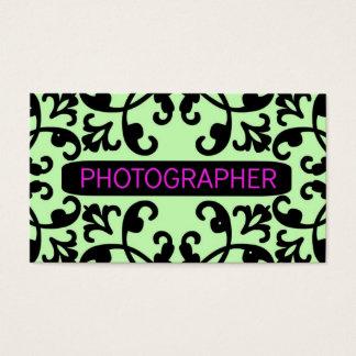 カメラマンのダマスク織の名刺 名刺