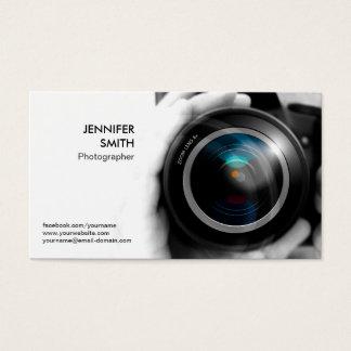 カメラマンのフォトジャーナリストのカメラレンズのスタジオ 名刺