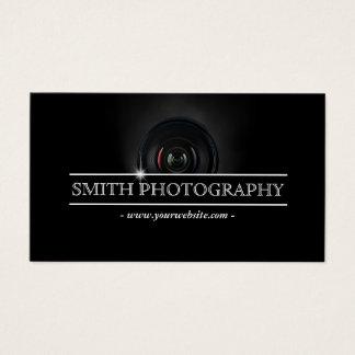 カメラマンのモダンなカメラレンズの写真撮影 名刺