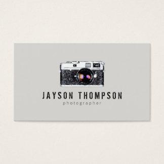 カメラマンのヴィンテージのカメラのイラストレーションのロゴII 名刺