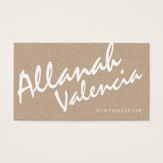 カメラマンの一流のタイポグラフィの名刺 名刺