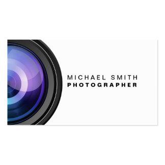 カメラマンの写真撮影のカメラレンズのプロフェッショナル スタンダード名刺