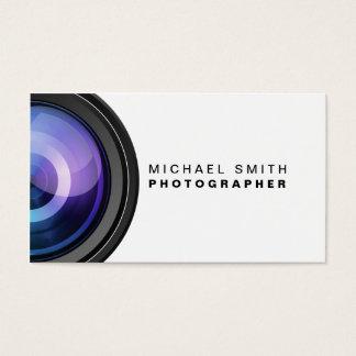 カメラマンの写真撮影のカメラレンズのプロフェッショナル 名刺