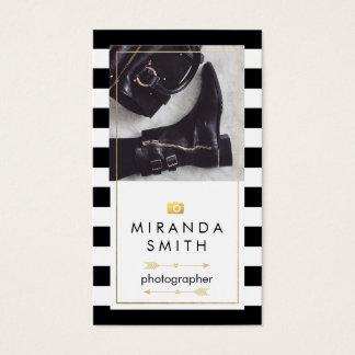 カメラマンの名刺-シックなファッション 名刺