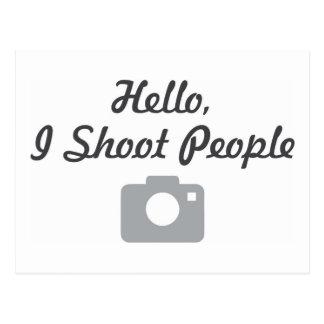 カメラマンの昇進こんにちは、私は人々を撃ちます ポストカード