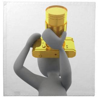 カメラマンの金カメラ ナプキンクロス