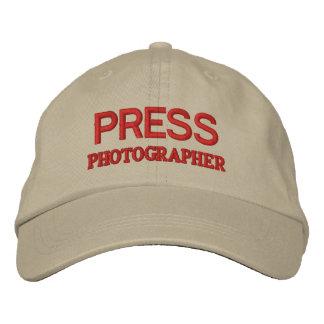 カメラマン 刺繍入りキャップ