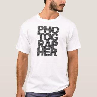 カメラマン-黒い文字 Tシャツ