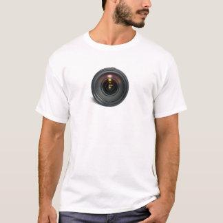 カメラレンズのワイシャツ Tシャツ