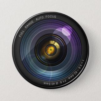 カメラレンズ 7.6CM 丸型バッジ