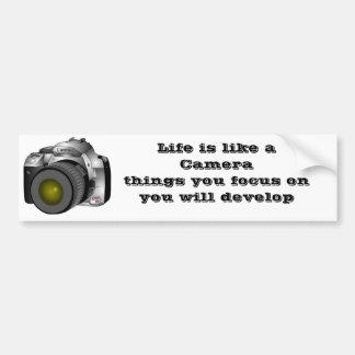 カメラ、生命はあなたがoを…集中するCamerathingsのようです バンパーステッカー
