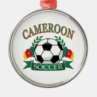 カメルーンのサッカーのデザイン メタルオーナメント