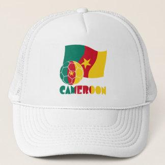 カメルーンのサッカーボールおよび旗 キャップ