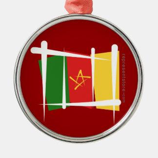 カメルーンのブラシの旗 メタルオーナメント