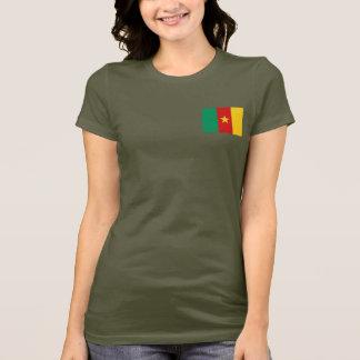カメルーンの旗および地図dkのTシャツ Tシャツ