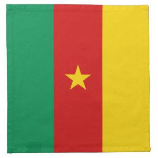 カメルーンの旗のナプキン ナプキンクロス