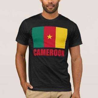 カメルーンの旗の赤の文字 Tシャツ