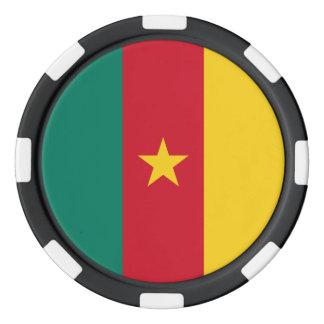 カメルーンの旗 ポーカーチップ