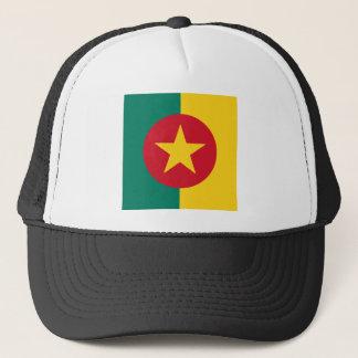 カメルーンの正方形の旗のデザイン キャップ