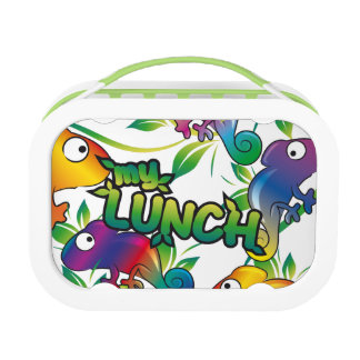 カメレオンが付いている私の昼食 ランチボックス