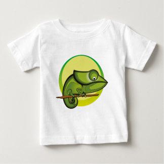 カメレオンのイラストレーションのファッション ベビーTシャツ
