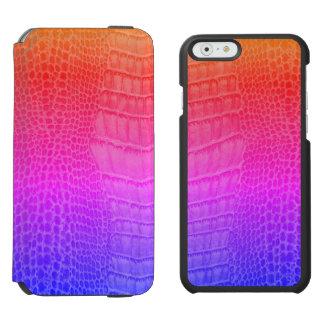 カメレオンのトカゲのカメレオンのハ虫類のかわいいのヤモリ INCIPIO WATSON™ iPhone 6 財布ケース