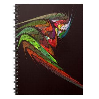 カメレオンの抽象美術のノート ノートブック