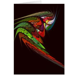 カメレオンの抽象美術のメッセージカード カード