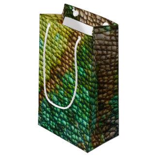 カメレオンの皮の質のテンプレート スモールペーパーバッグ