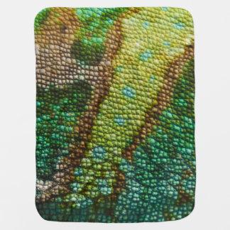 カメレオンの皮の質のテンプレート ベビー ブランケット