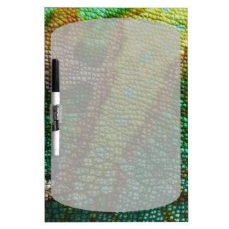 カメレオンの皮の質のテンプレート ホワイトボード