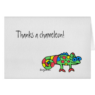 カメレオンを感謝していしていますメッセージカード感謝していしています カード