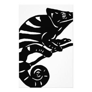 カメレオン 切り絵 chameleon アニマル ANIMAL 便箋