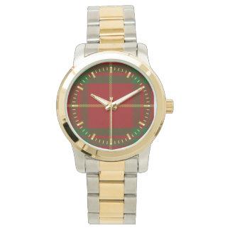 カメロンのタータンチェックのツートーン腕時計 腕時計